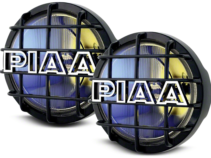 PIAA 520 Series 6 in. Round Ion Yellow Halogen Lights - Driving Beam - Pair