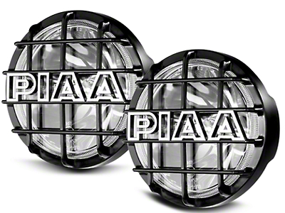 PIAA 520 Series 6 in. Round SMR Xtreme White Halogen Lights - Driving Beam - Pair