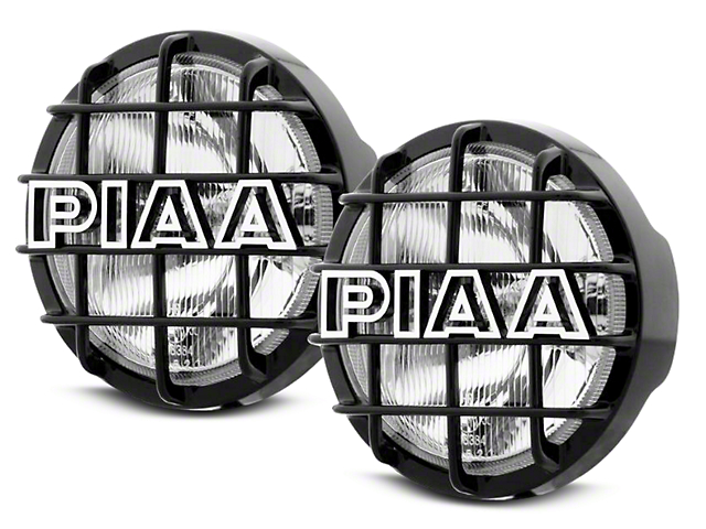 PIAA 520 Series 6 in. Round ATP Xtreme White Halogen Lights - Spot Beam - Pair