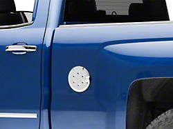 Fuel Tank Door Cover - Chrome (14-18 Silverado 1500 Regular Cab, Double Cab)