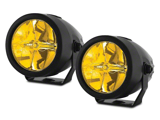 PIAA LP270 2.75 in. Round Ion Yellow LED Lights - Driving Beam - Pair