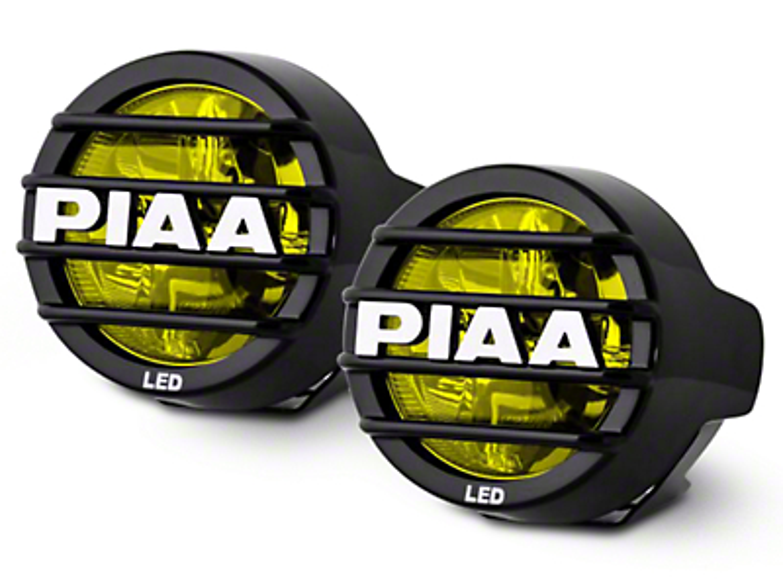 PIAA LP530 3.5 in. Round Ion Yellow LED Lights - Fog Beam - Pair