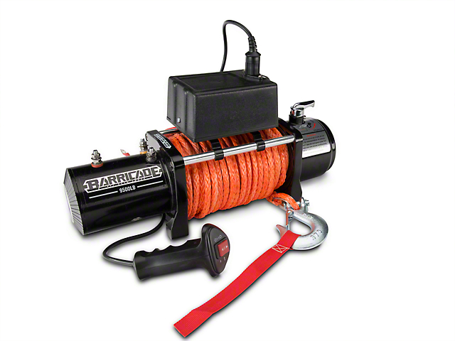 Barricade 9,500 lb. Winch with Synthetic Rope (Universal; Some Adaptation May Be Required)