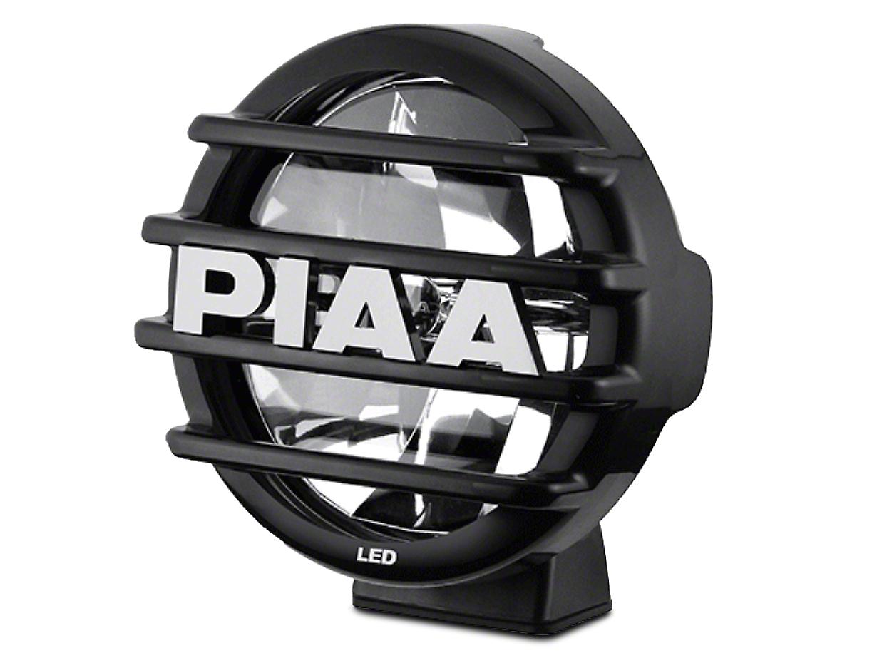 PIAA LP560 Series 6 in. Round Black Mesh Grille w/ PIAA Logo (07-18 Silverado 1500)