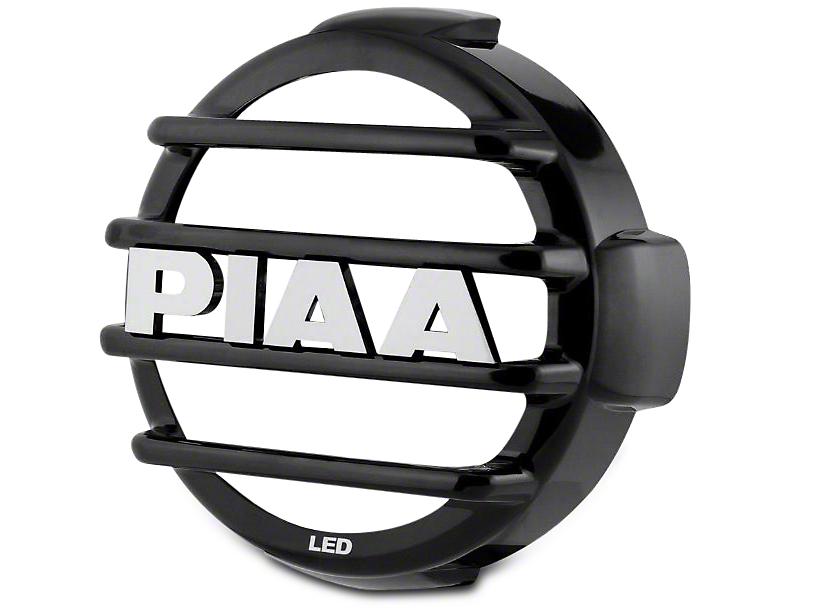 PIAA LP570 Series 7 in. Round Black Mesh Grille w/ PIAA Logo (07-18 Silverado 1500)