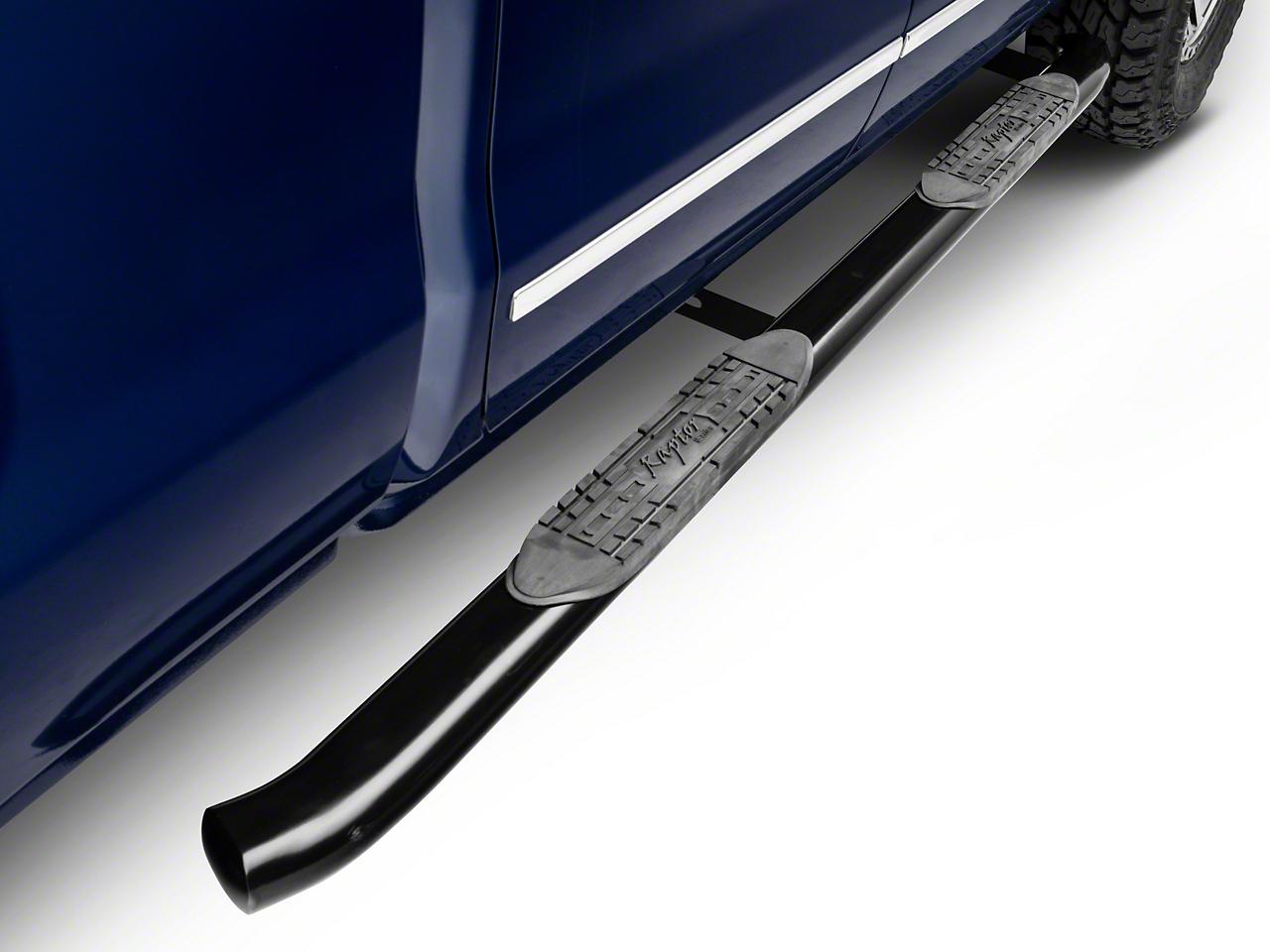 Raptor Series 4 in. OE Style Curved Oval Side Step Bars - Black - Body Mount (14-18 Silverado 1500)