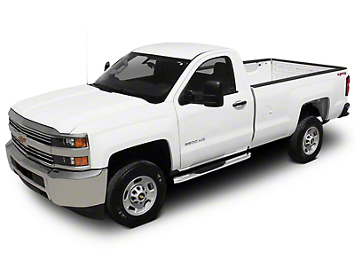 Raptor Series 4 in. OE Style Curved Oval Side Step Bars - Polished Stainless - Body Mount (14-18 Silverado 1500)