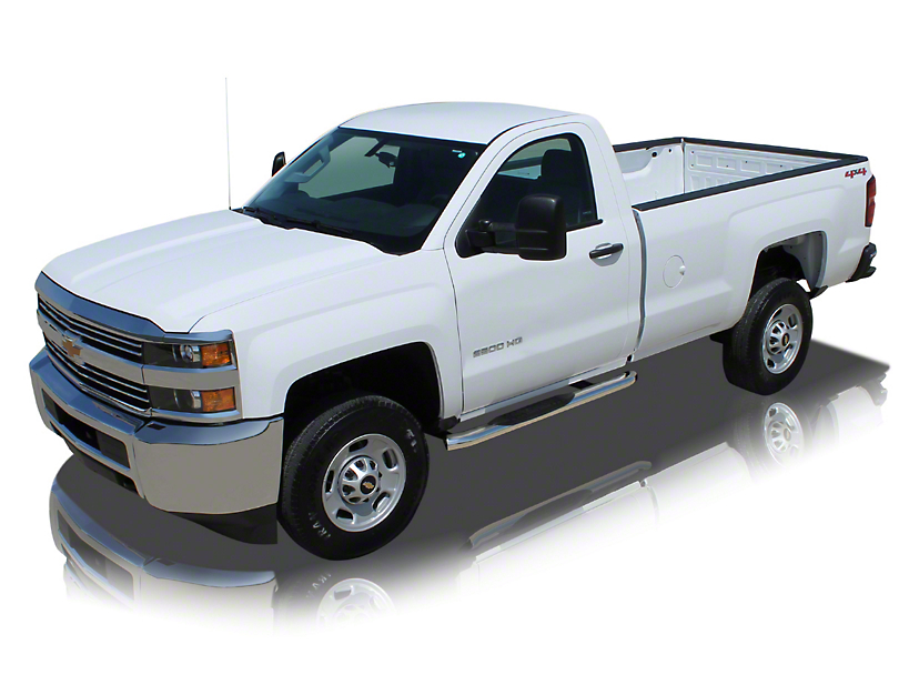 Raptor Series 4 in. OE Style Curved Oval Rocker Mount Side Step Bars - Polished Stainless (07-13 Silverado 1500)