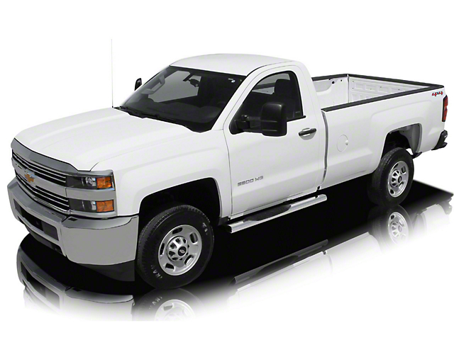 Raptor Series 5 in. Magnum Straight Oval Body Mount Side Step Bars - Stainless Steel (14-18 Silverado 1500)