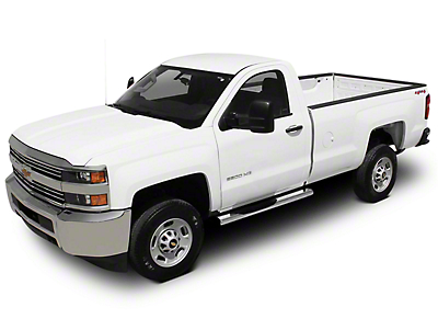 Raptor Series 6 in. Magnum Straight Oval Body Mount Side Step Bars - Polished Stainless (14-18 Silverado 1500)
