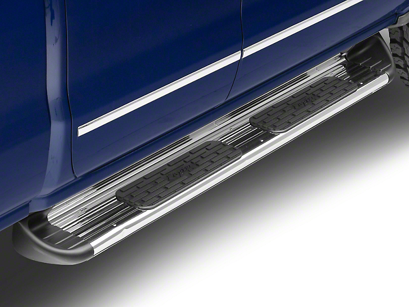 Raptor Series 7 in. SSR Stainless Steel Rocker Mount Running Boards - Polished (14-18 Silverado 1500)