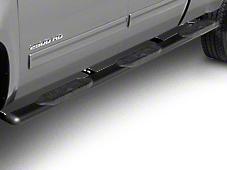 Raptor Series 6 in. Oval Wheel to Wheel Side Step Bars - Black - Rocker Panel Mount (07-13 Silverado 1500 Extended Cab w/ Standard Box, Crew Cab)