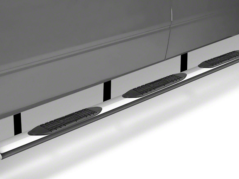 Raptor Series 6 in. Oval Wheel to Wheel Body Mount Side Step Bars - Polished Stainless (07-13 Silverado 1500 Extended Cab w/ Standard Box, Crew Cab w/ Short Box)