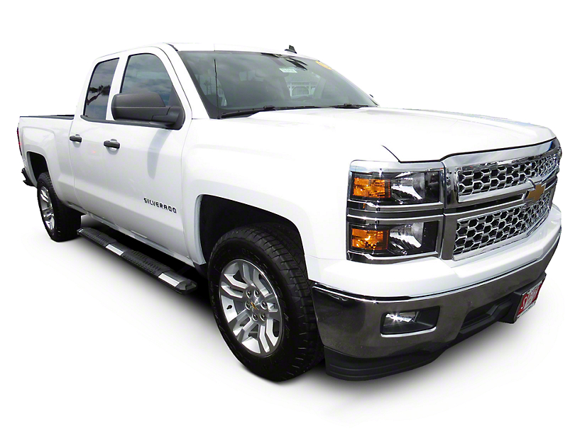 Steel Craft STX400 Aluminum Step Boards - Polished Stainless - Rocker Panel Mount (14-18 Silverado 1500 Double Cab)