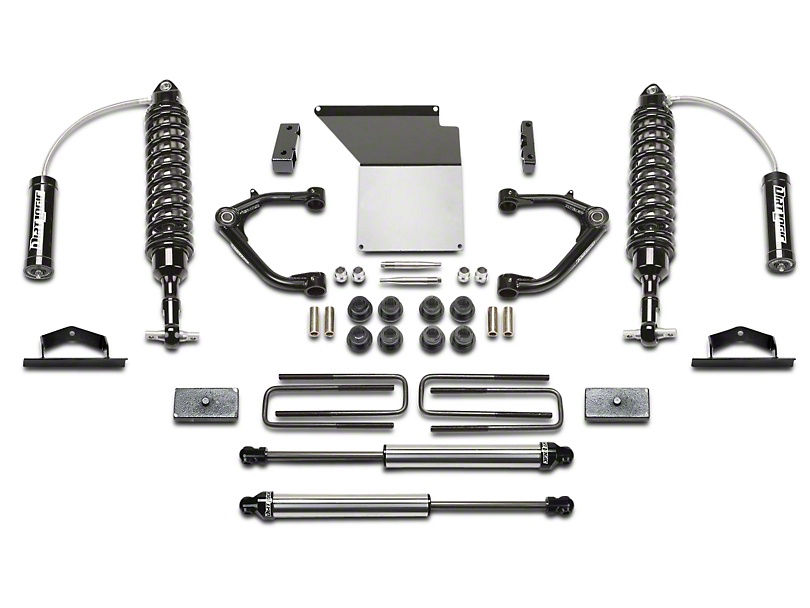 Fabtech 4 in. Uniball Upper Control Arm System w/ Dirt Logic Reservoir Coilovers & Shocks (14-18 2WD/4WD Silverado 1500 Double Cab, Crew Cab)