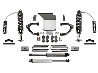 Fabtech 4 in. Uniball Upper Control Arm System w/ Dirt Logic Coilover Reserviors & Shocks (14-18 2WD/4WD Silverado 1500 Double Cab, Crew Cab)