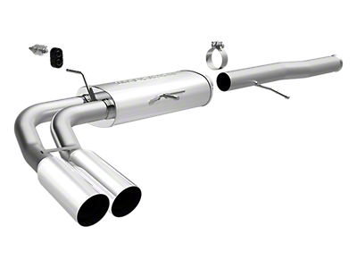 Magnaflow MF Series Dual Exhaust System - Middle Side Exit (10-13 4.3L Silverado 1500)