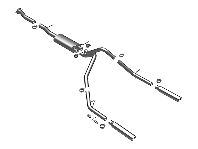 Magnaflow MF Series Dual Exhaust System - Rear Exit (07-08, 10-13 4.3L Silverado 1500)