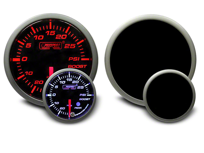 Prosport Dual Color 30 PSI Boost/Vac Gauge - Electrical - Amber/White (99-18 Silverado 1500)