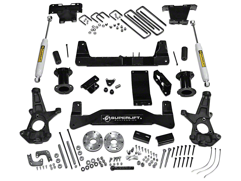 SuperLift 6.5 in. Suspension Lift Kit w/ Superide Rear Shocks (07-13 4WD Silverado 1500)