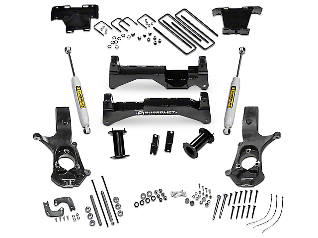 SuperLift 8 in. Suspension Lift Kit w/ Superide Shocks (14-18 4WD Silverado 1500)