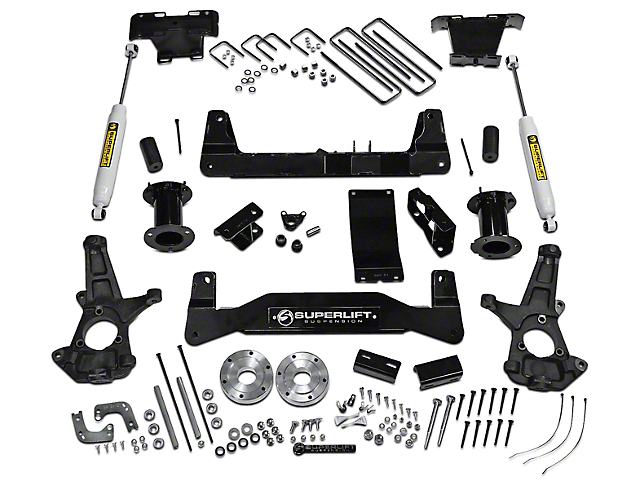 SuperLift 6.5 in. Suspension Lift Kit w/ Superide Rear Shocks (14-18 4WD Silverado 1500)