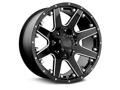 Havok Off-Road H102 Black Milled 6-Lug Wheel - 20x9 (99-18 Silverado 1500)