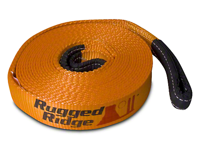 Rugged Ridge 3 in. x 30 ft. Recovery Strap - 30,000 lbs. (07-17 All)