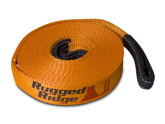 Rugged Ridge 4-Inch x 30-Foot Recovery Strap; 40,000 lb.