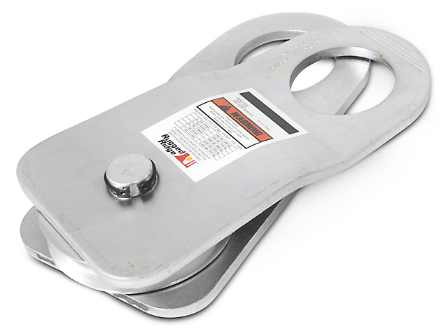 Rugged Ridge Snatch Block Pulley - 30,000 lb. Limit