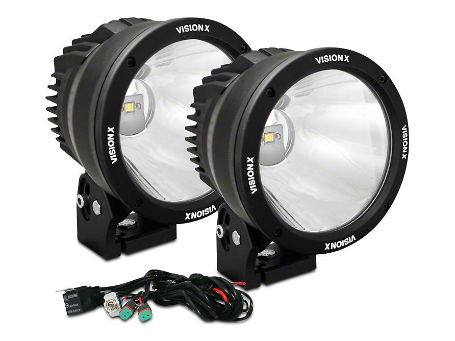 Vision X 6.7 in. LED Cannon - 2,500 ft. Range - Spot Beam - Pair
