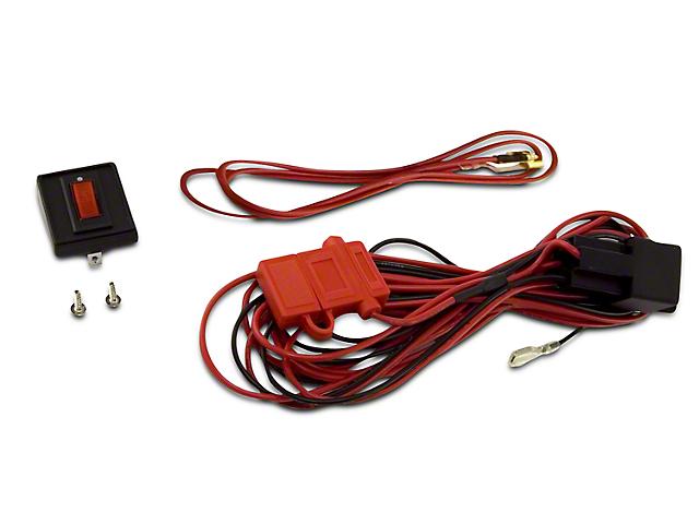 rugged ridge wiring harness for three hid off-road fog lights