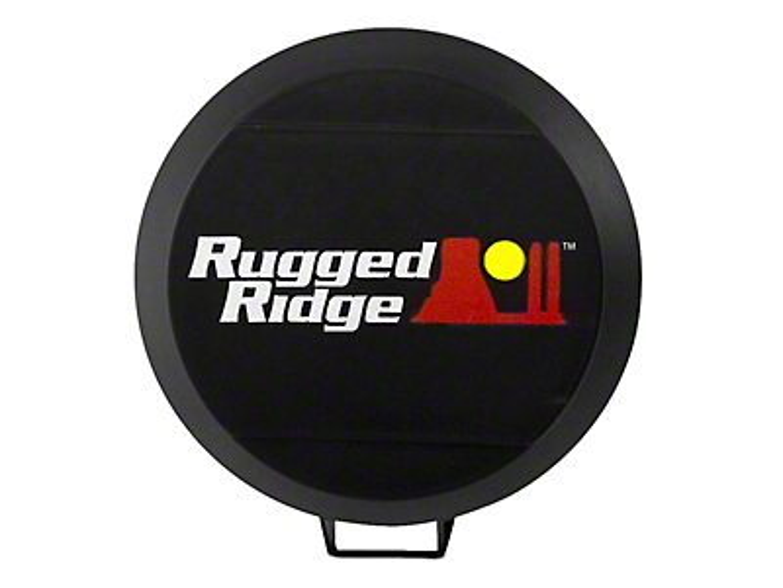 Rugged Ridge 5 in. HID Off-Road Light Cover - Black (07-18 Silverado 1500)