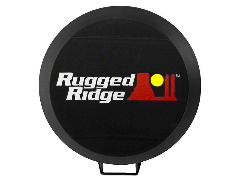 Rugged Ridge 6 in. HID Off-Road Light Cover - Black (07-18 Silverado 1500)