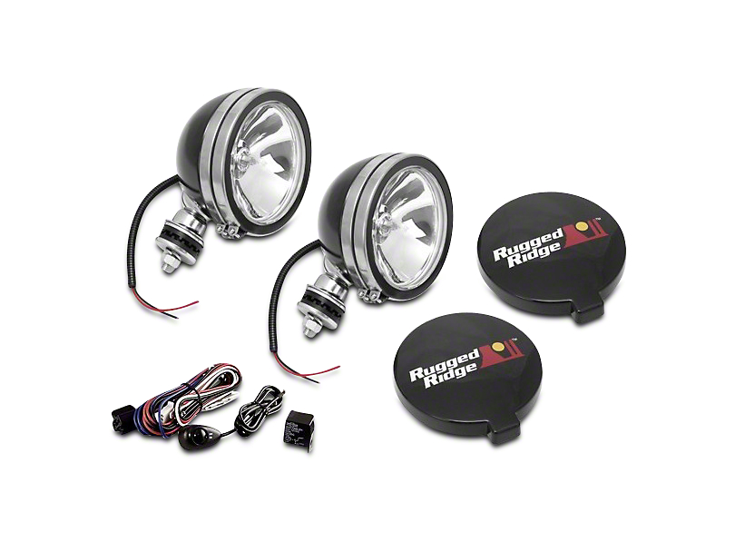 Rugged Ridge 6 in. Round Halogen Fog Lights - Pair