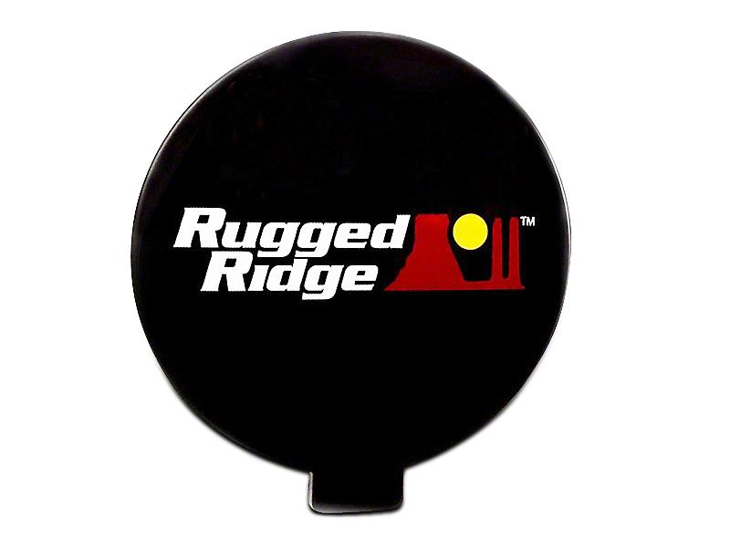 Rugged Ridge 6 in. Slim Off-Road Light Cover - Black (07-18 Silverado 1500)