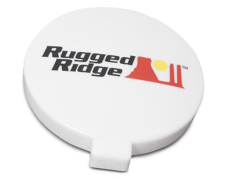 Rugged Ridge 6 in. Slim Off-Road Light Cover - White (07-18 Silverado 1500)