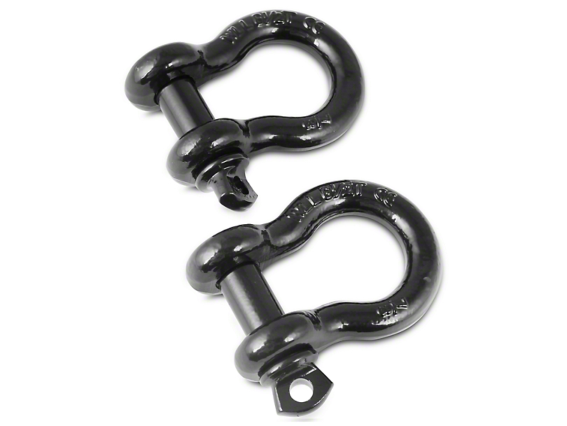 Rugged Ridge 7/8 in. D-Ring Shackles - Pair