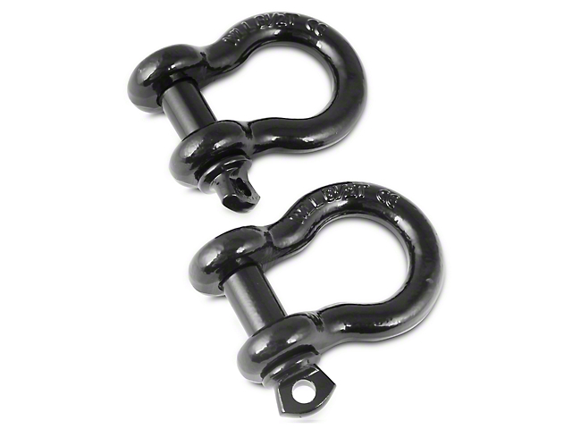 Rugged Ridge 3/4-Inch D-Ring Shackles - Black