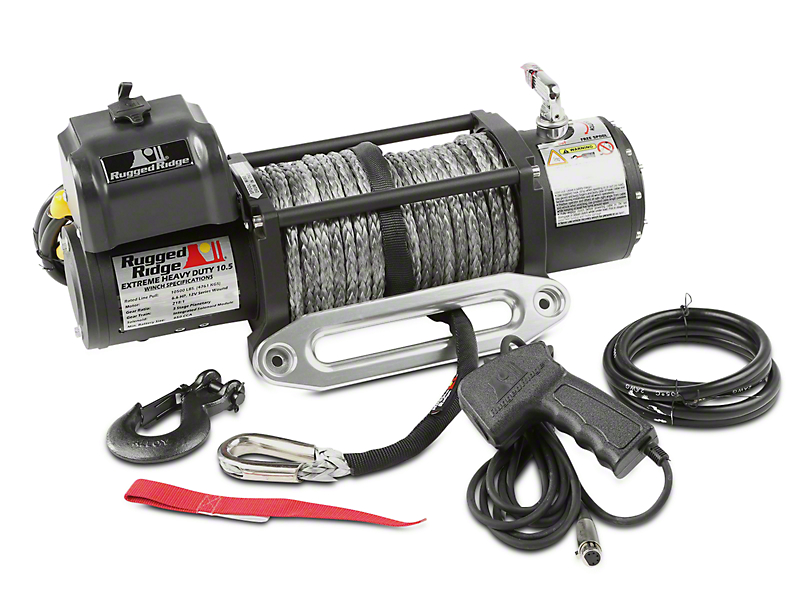 Rugged Ridge Spartacus Performance 10,500 lb. Winch w/ Synthetic Rope