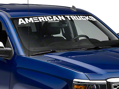 AmericanTrucks Windshield Banner - White (07-18 Silverado 1500)