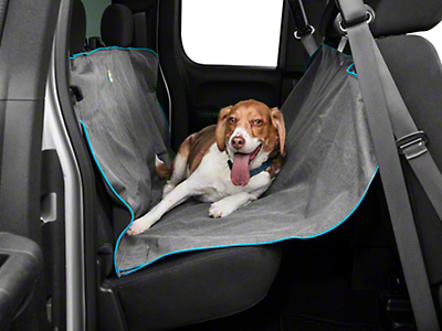 Kurgo Heather Pattern Dog Hammock - Charcoal (07-18 Silverado 1500 Extended/Double Cab, Crew Cab)