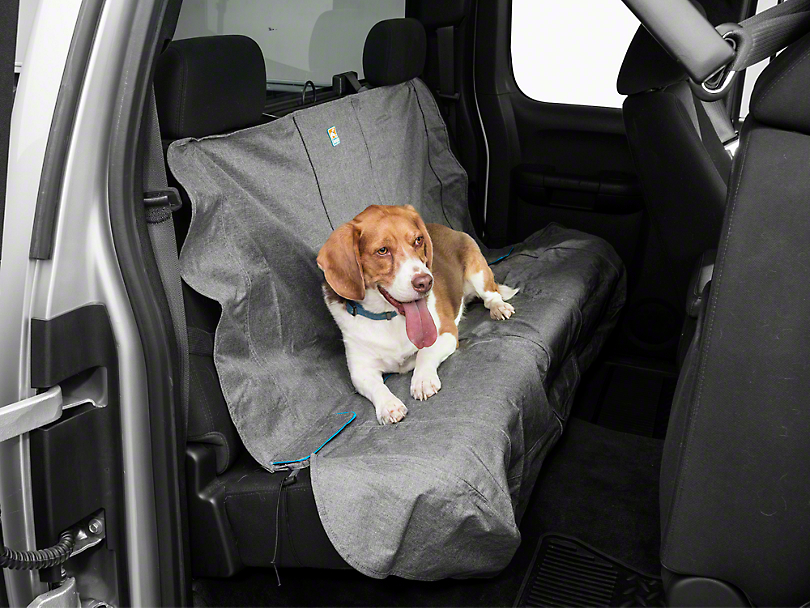 Kurgo Heather Pattern Rear Bench Seat Cover - 55 in. Wide - Charcoal (07-18 Silverado 1500 Extended/Double Cab, Crew Cab)