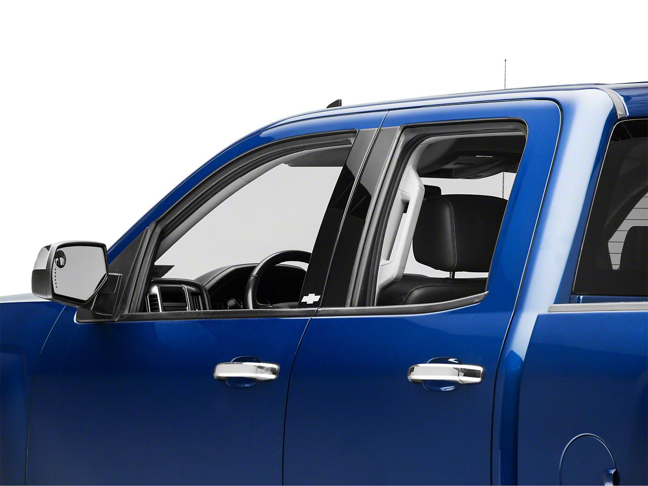 Putco Black Platinum Pillar Posts w/ Bowtie Logo (14-18 Silverado 1500 Double Cab, Crew Cab)