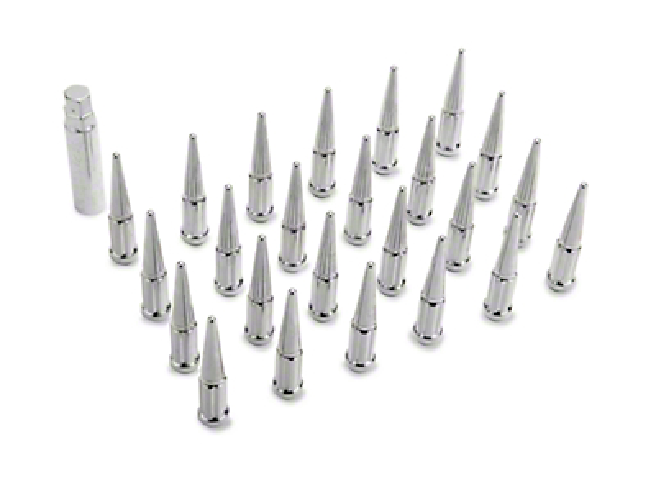 Coyote Chrome Spike Lug Nut Kit - 14mm x 1.5 (99-18 Silverado 1500)