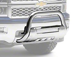 Barricade Off-Road HD Bull Bar with Skid Plate and 20-Inch LED Dual-Row LED Light Bar; Stainless Steel (07-18 Silverado 1500)