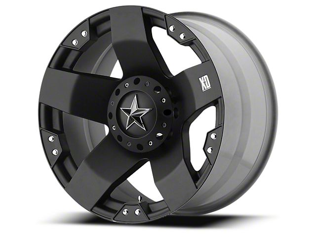 Rockstar XD775 Matte Black 6-Lug Wheel - 22x12; -44mm Offset (99-19 Silverado 1500)