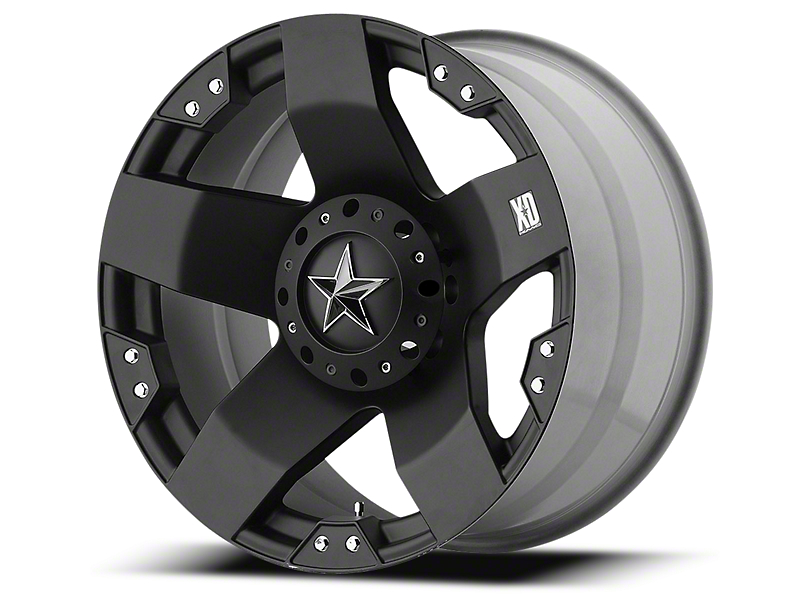 Rockstar XD775 Matte Black 6-Lug Wheel - 22x9.5; 12mm Offset (99-19 Silverado 1500)