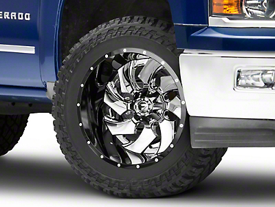 Fuel Wheels Cleaver Chrome w/ Gloss Black 6-Lug Wheel - 22x14 (99-18 Silverado 1500)