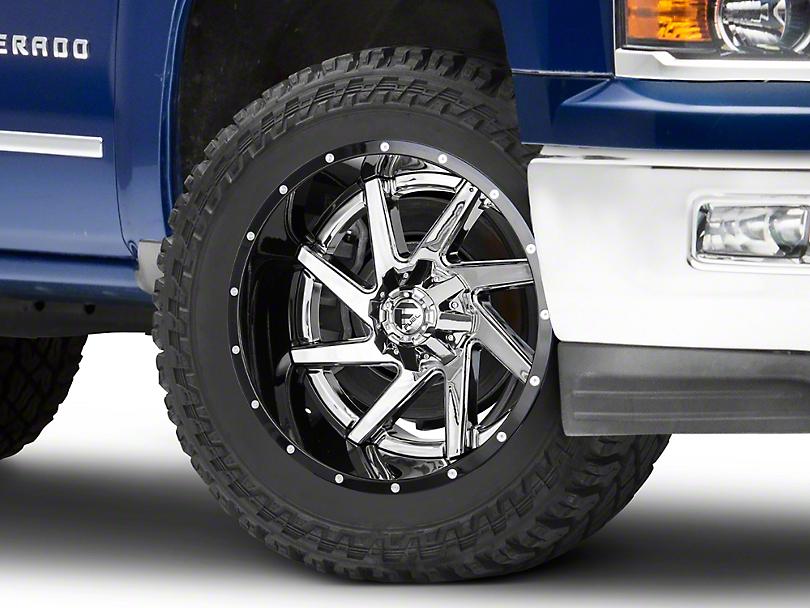 Fuel Wheels Renegade Chrome w/ Gloss Black Lip 6-Lug Wheel - 22x12 (99-18 Silverado 1500)